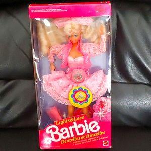 BOGO🌺RARE🌺 1990 Mattel Lights & Lace Barbie